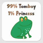 Princesa de la marimacho el 1% del 99% pegatina cuadradas personalizadas