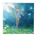 Princesa de la mariposa azulejo cuadrado pequeño