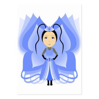Princesa de la mariposa de la calcedonia tarjetas de negocios