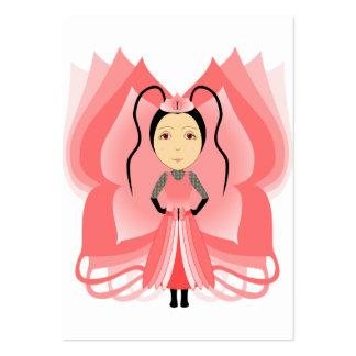 Princesa de la mariposa del Carnelian Plantilla De Tarjeta De Visita