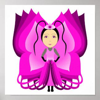 Princesa de la mariposa del Tourmaline Poster