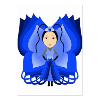 Princesa de la mariposa del zafiro plantilla de tarjeta personal