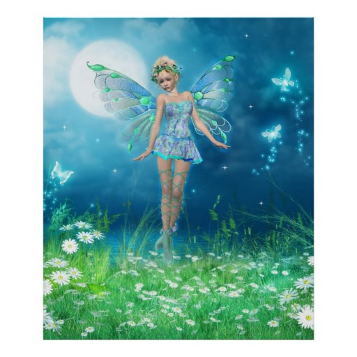 Princesa de la mariposa póster