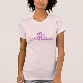 Princesa de la matemáticas camisetas