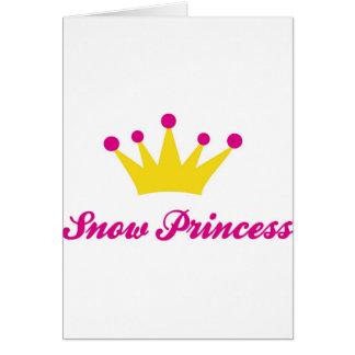 princesa de la nieve tarjeta de felicitación