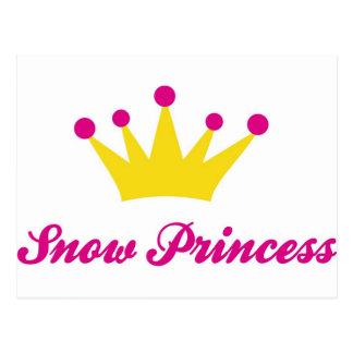 princesa de la nieve tarjeta postal