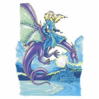 princesa de la noche del dragón fotoescultura vertical