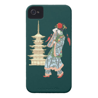 Princesa de la pagoda iPhone 4 protector