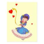 Princesa de la postal de los corazones