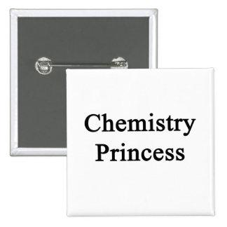 Princesa de la química chapa cuadrada 5 cm