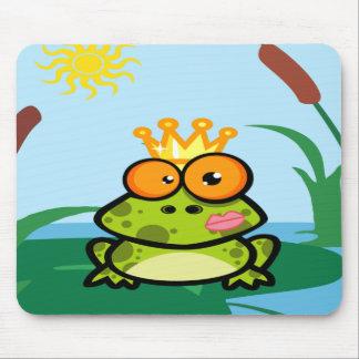 Princesa de la rana en la charca tapete de ratón