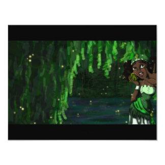 """Princesa de la rana invitación 4.25"""" x 5.5"""""""