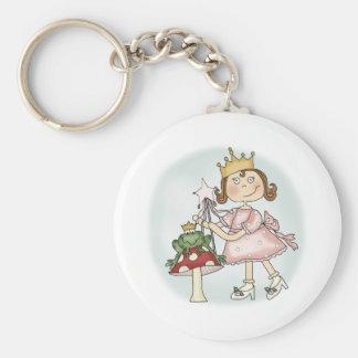 Princesa de la rana llavero redondo tipo pin