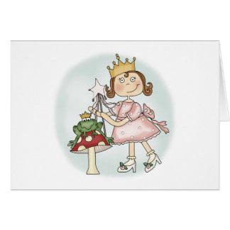 Princesa de la rana tarjeta de felicitación
