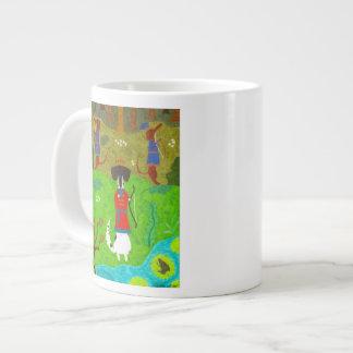 Princesa de la rana taza de café grande
