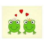 Princesa de la rana y príncipe de la rana, con los flyer a todo color