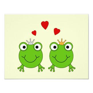 Princesa de la rana y príncipe de la rana, con los comunicado