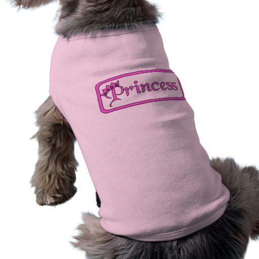 Princesa de la ropa del mascota de la camiseta del camisas de perritos
