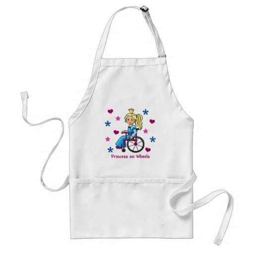 Princesa de la silla de ruedas delantal