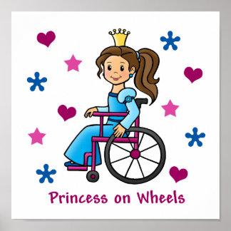 Princesa de la silla de ruedas impresiones