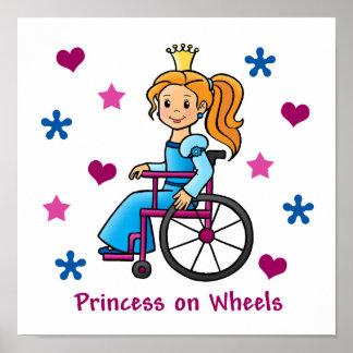 Princesa de la silla de ruedas posters