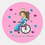 Princesa de la silla de ruedas pegatina