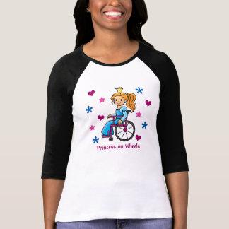 Princesa de la silla de ruedas camisetas