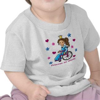 Princesa de la silla de ruedas camiseta