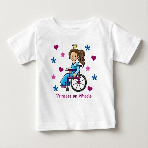 Princesa de la silla de ruedas playera de bebé
