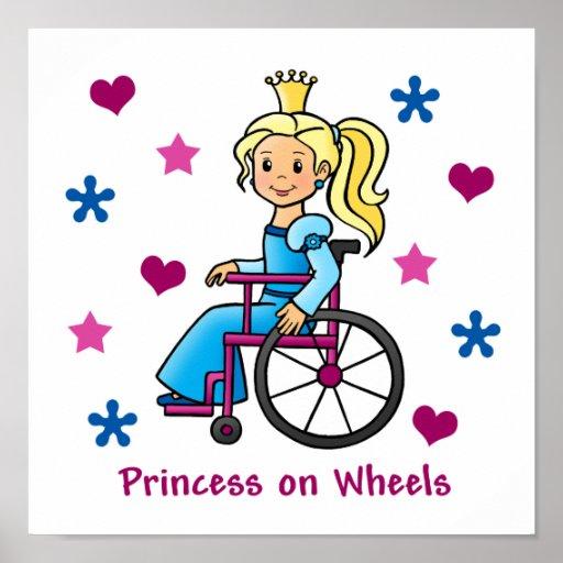 Princesa de la silla de ruedas póster
