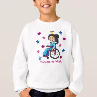 Princesa de la silla de ruedas sudadera