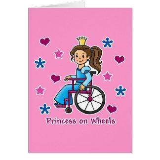 Princesa de la silla de ruedas felicitacion