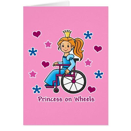 Princesa de la silla de ruedas tarjeta de felicitación