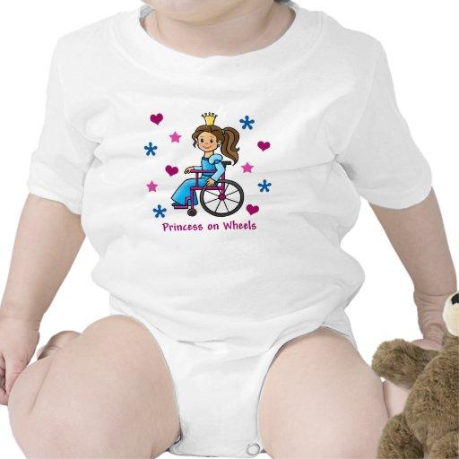 Princesa de la silla de ruedas traje de bebé