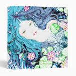 Princesa de la sirena en carpeta azul de las tonal