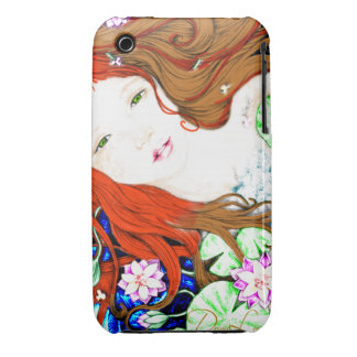 Princesa de la sirena en casamata del estilo del Case-Mate iPhone 3 protectores