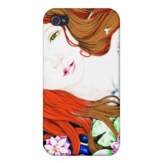 Princesa de la sirena en caso del iPhone del estil iPhone 4 Fundas