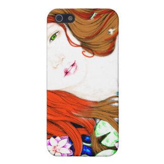 Princesa de la sirena en caso del iPhone del estil iPhone 5 Carcasas