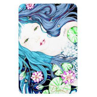 Princesa de la sirena en imán azul de las