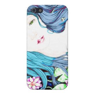 Princesa de la sirena en tonalidades azules iPhone 5 protector