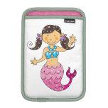 princesa de la sirena (pelo oscuro) funda de iPad mini