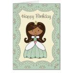 Princesa de la tarjeta de cumpleaños del valle