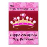 Princesa de la tarjeta del día de San Valentín Invitación 8,9 X 12,7 Cm