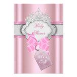 Princesa de la tiara del rosa del chica de la prin