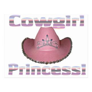 Princesa de la vaquera postal