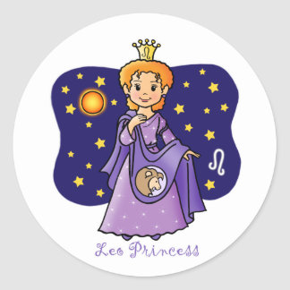 Princesa de Leo Pegatina Redonda