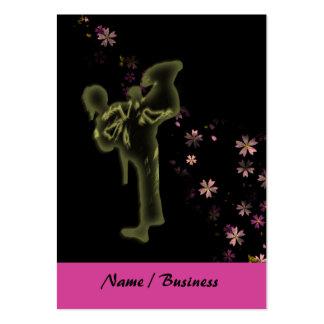 Princesa de los artes marciales tarjetas de visita grandes