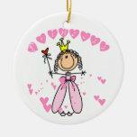 Princesa de los corazones ornamentos de reyes magos