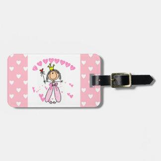 Princesa de los corazones etiquetas de equipaje