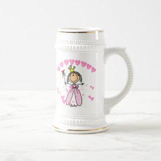 Princesa de los corazones jarra de cerveza